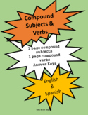 Compound Subjects and Compound Verbs (English & Spanish)