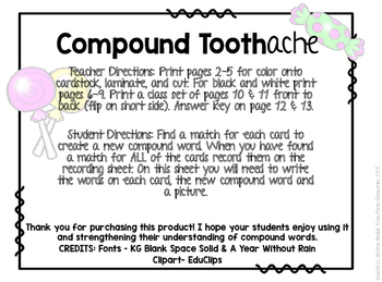 Compound Toothache Language Arts Center
