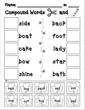 picture regarding Printable Compound Word Games titled Material Phrases Lesson Worksheets Education Products TpT