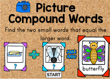 Compound Word Activities and Digital Task Card Bundle