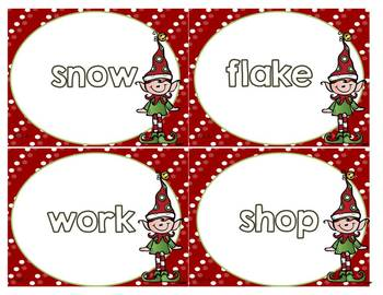 Compound Word Activity - Elves Workshop