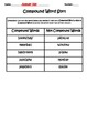 Compound Word Activity Pages