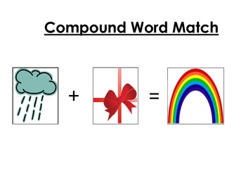 Compound Word Addition Puzzle Match
