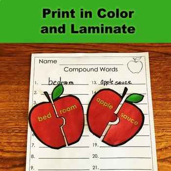 Compound Word Apple Puzzles