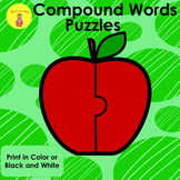 Compound Word Apple Puzzles and Worksheets
