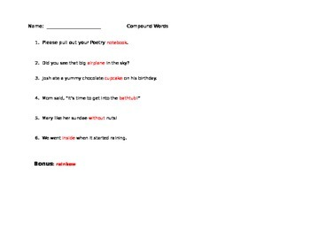 Compound Word Assessment