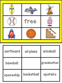 Compound Word Bingo Game