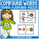 Compound Word Set Puzzles - Matching - Flashcards