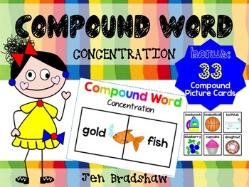 Compound Word CONCENTRATION Game ~ Center Activity ~ Reading ~ RTI ~ Vocabulary