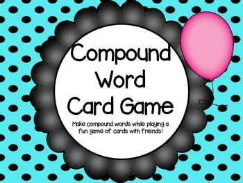 Compound Word Card Game