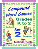 Compound Word Card Game - Set 2