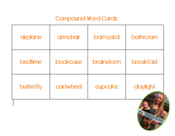 Compound Word Cards: 60 Different Cards!