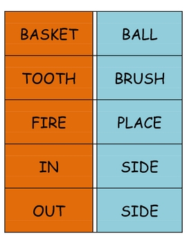 Compound Word Cards for Literacy Box