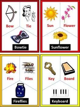 Compound Word Cards with Illustrations