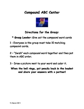 Compound Word Center Directions!