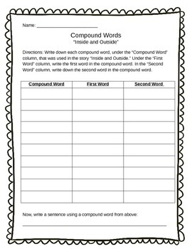 Compound Word Chart