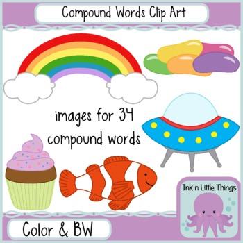 Compound Word Clip Art - Compound Words Clipart Set