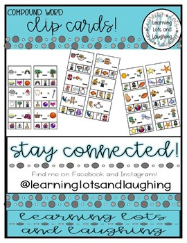 Compound Word Clip Cards!