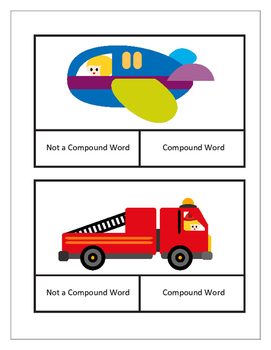 Compound Word Clip Cards