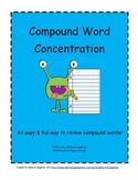 Compound Word Concentration Game