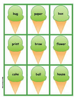 Compound Word Cones: 3 Compound Word Games
