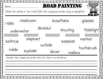 Compound Word Construction Packet