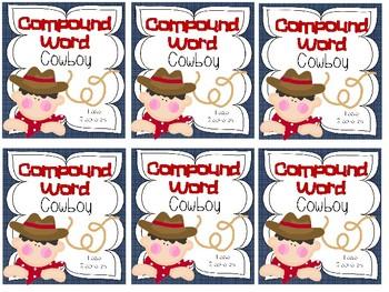 Compound Word Cowboy - A Mini Book