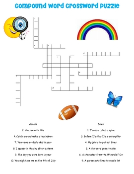 Compound Word Crossword Puzzle
