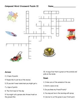 Compound Word Crossword Puzzle II