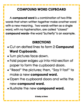 Compound Word Cupboard