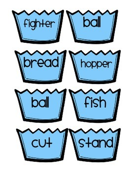 Compound Word Cupcakes - Bottom