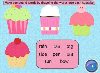 Compound Word Cupcakes SMART Board Lesson