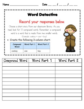 Compound Word Detective
