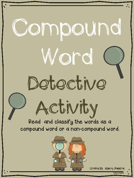 Compound Word Detective Sort