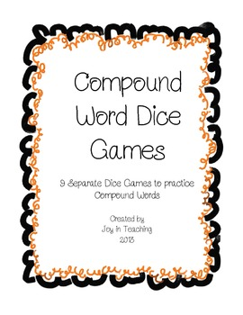 Compound Word Dice Games for Centers or Small Group