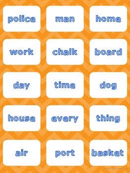 Compound Word Activities. Whole group + center games, Worksheets, Fast Finishers
