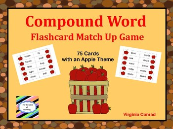 Compound Word Flashcard Match Up Game--APPLES