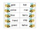 Compound Word Flashcard Match Up Game---BEES
