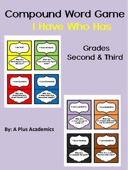 Second / Third Grade - Compound Word Game