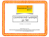 Compound Word Go Fish for Intervention, small group, and RTI