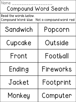 Compound Word Hunt