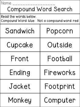 Compound Word Hunt