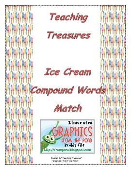 Compound Word Ice Cream Cone Match Game