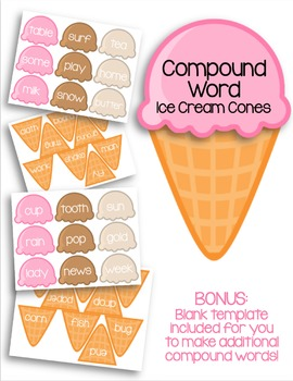 Compound Word Ice Cream Cones