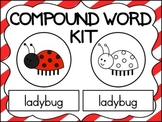 Compound Word Kit ~ with colorful & black/white picture cards