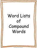 Compound Word Lists