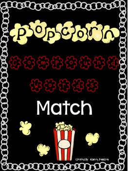 Compound Word Match Popcorn Theme