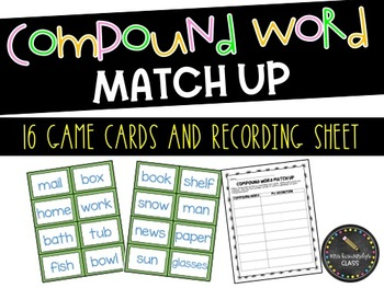 Compound Word Match Up