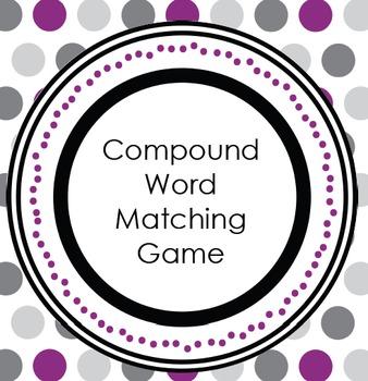 Compound Word Match Up Center Activity