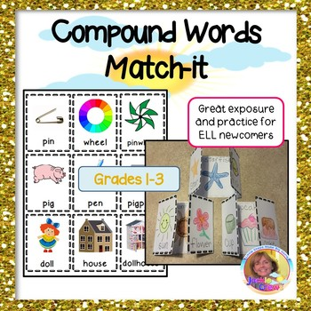 Compound Word Match-it Interactive Activity